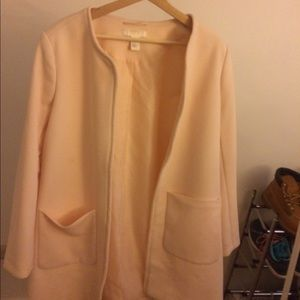 50's vibes vintage pink trench coat, no closing